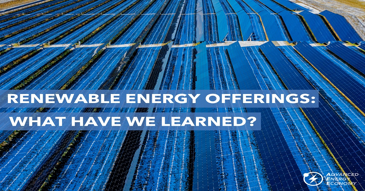Improving Renewable Energy Offerings: What Have We Learned?