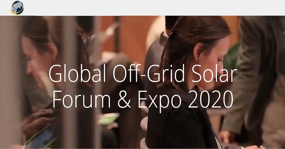 Global Off-Grid Solar Forum & Expo 2020