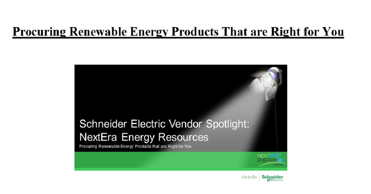 Procuring Renewable Energy Products That are Right for You