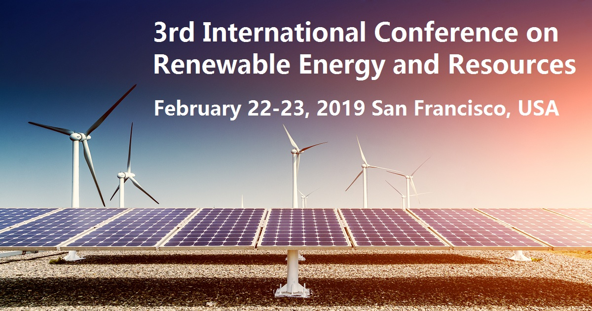 3Rd International Conference On Renewable Energy And Resources