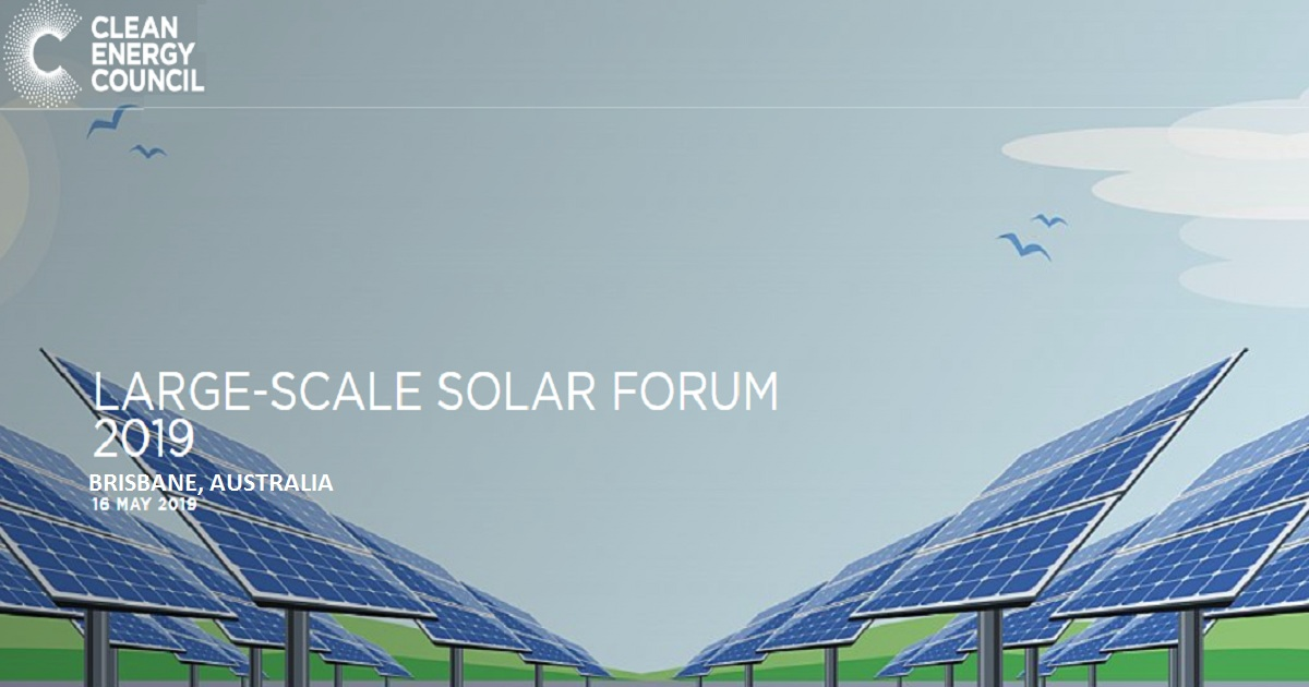 LARGE-SCALE SOLAR FORUM 2019