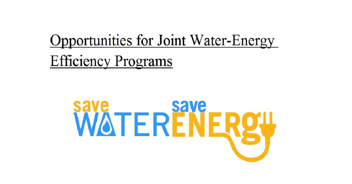 Opportunities for Joint Water-Energy Efficiency Programs