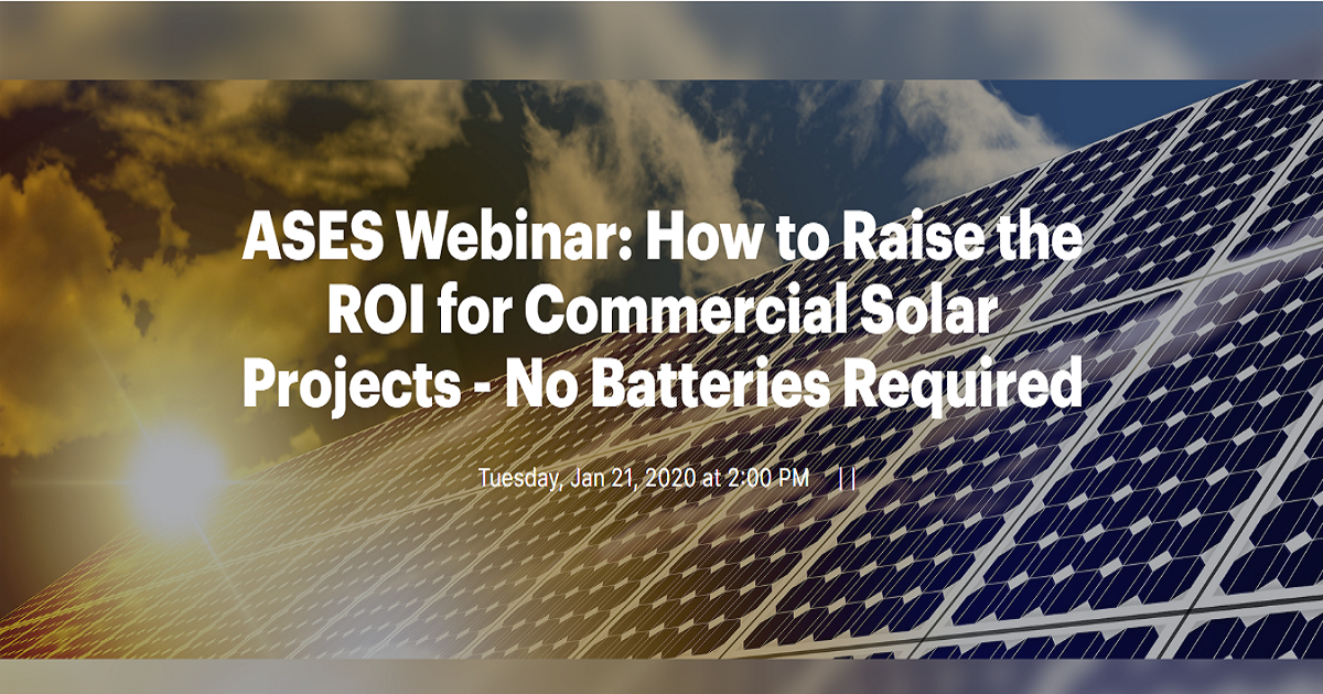 How to Raise the ROI for Commercial Solar Projects - No Batteries Required