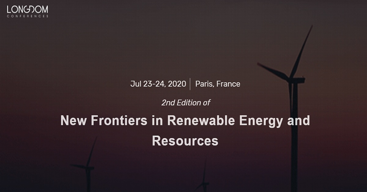 2nd Edition of New Frontiers in Renewable Energy and Resources