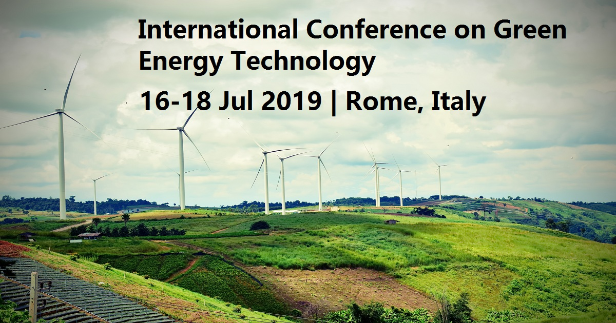 International Conference on Green Energy Technology