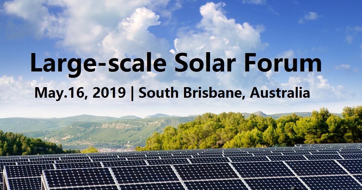 Large-scale Solar Forum