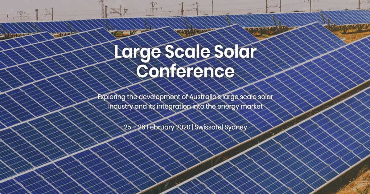 Large Scale Solar Conference